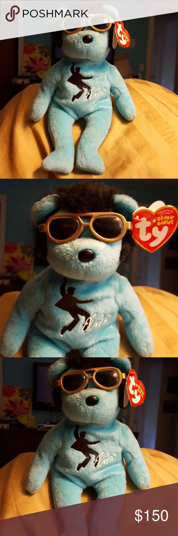TY Blue Beanie Shoes Beanie Baby Elvis beanie baby from 2008. Know an Elvis fan? Are you a Beanie Baby Collector? Great condition w original Tag. Ty Beanie Babies Other