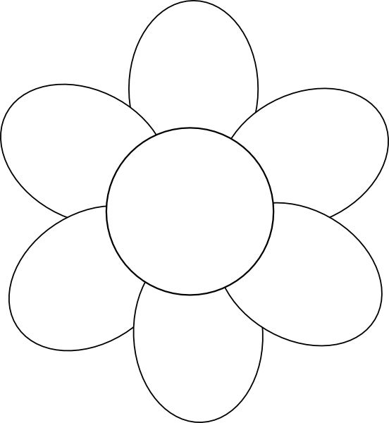 Flower Template Free Printable Google Search Lique Templates Petal Flowers