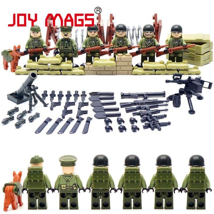 ALEGRÍA REVISTAS Mundo Guerra II Set EE. UU. Equipo de Comandos Hermanos Marine Corps RPG Juego Bloques de Construcción de Juguetes Compatibles