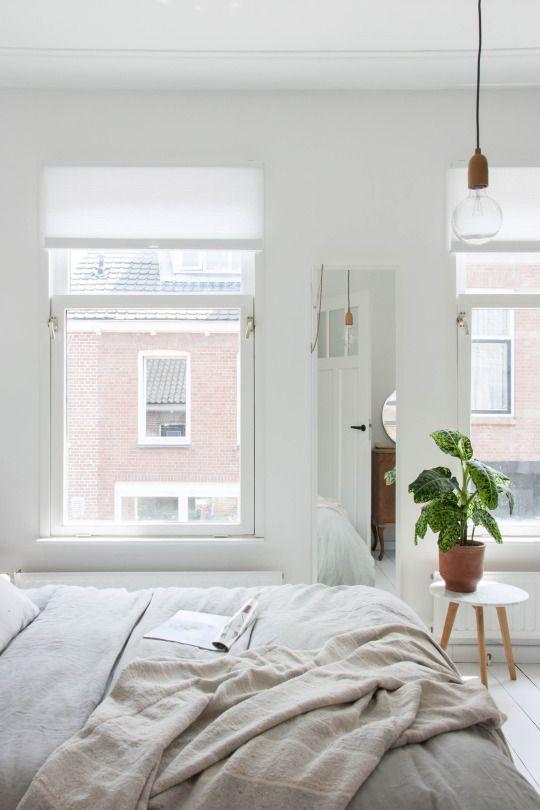 white minimalist bedroom / minimal interior design