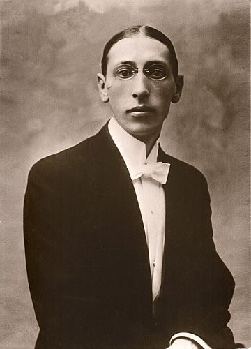 Igor Stravinsky, magnificent avant guarde composer. Chanel designs costumes for some of Stravinsky's ballets, along with Picasso & Matisse.
