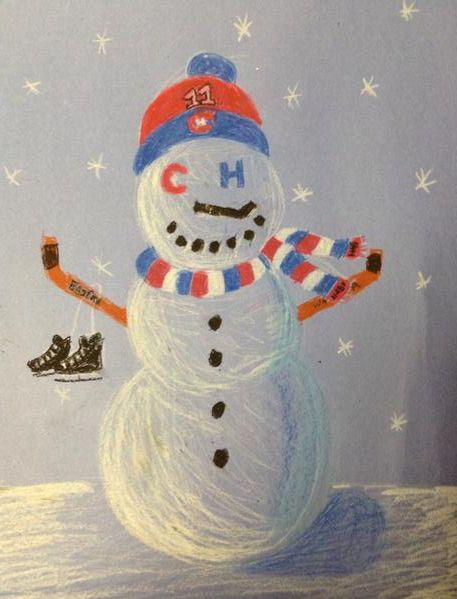 Le plus beau des bonhommes de neige! / Best snowman ever! Par / By @ali shaver (Twitter)