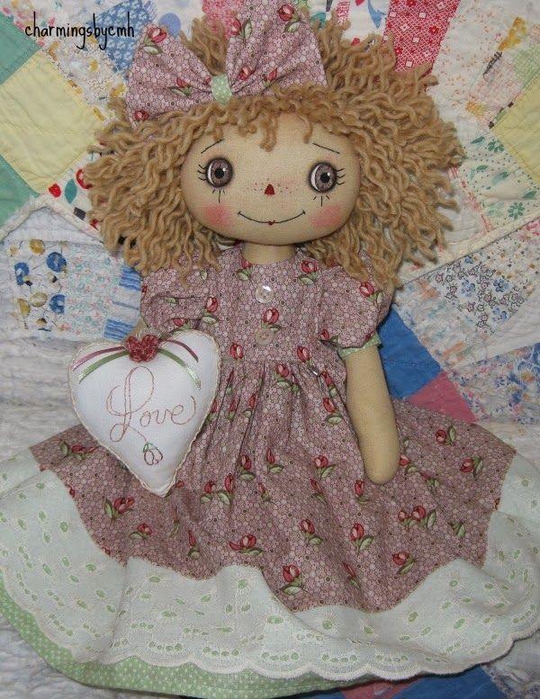 charmingsbycmh Raggedy doll, Fabric dolls, Doll patterns