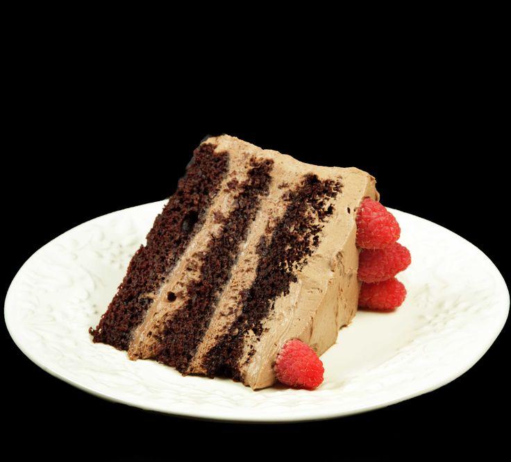 pastel de chocolate con mascarpone y fresas
