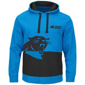 Majestic Carolina Panthers Blue Coin Toss Pullover Hoodie