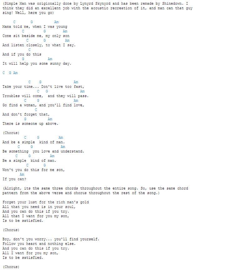 Simple Man chords