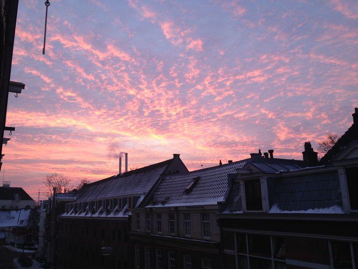 Roze lucht