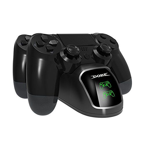 nice Cargador LREGO Fast Dual, DualShock 4 Base de carga con pantalla, para PlayStation 4, PlayStation Slim 4 y PlayStation 4 Pro