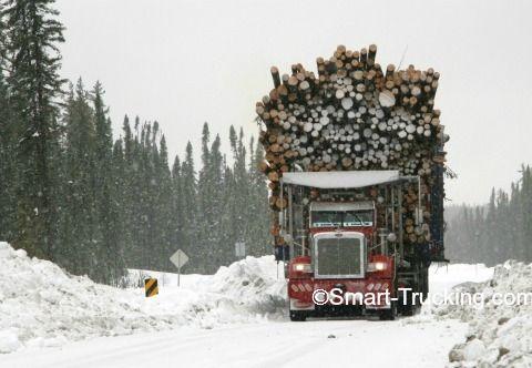 Peterbilt logging truck, 357, carrying 338,000 lb! Talk about a Megaload!