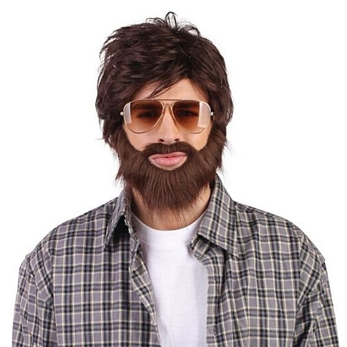 Hangover Wig and Beard  Code: WHAN  Funny wig and beard set from the comedy film 'The Hangover' with Bradley Cooper. £8.25