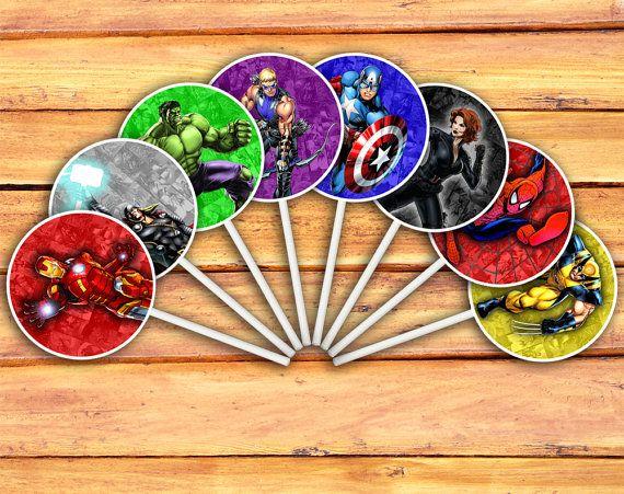 Marvel Avengers Cupcake Toppers Digital Printable