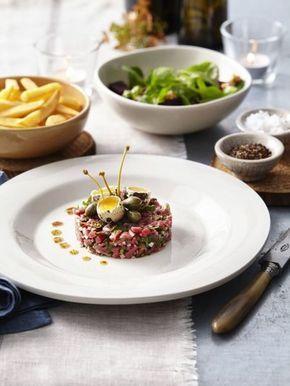 Steak tartaar met frietjes
