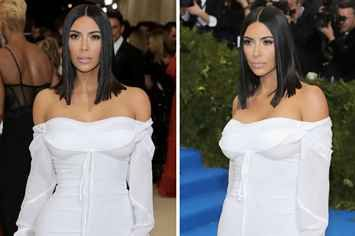 Kim Kardashian's 2017 Met Gala Look Is Seriously Toned-Down Compared To Years Prior