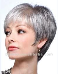 grey short hair style thinking of ditching the dye