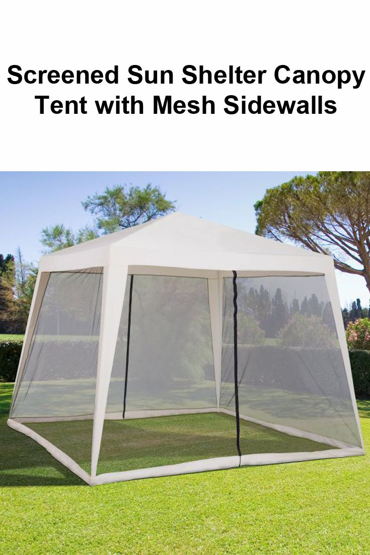 10 X 10 Mesh Screen House Folding Slant Leg Sun Shelter Canopy Tent With Mesh Sidewalls Canopy Tent Canopy Canopy Frame