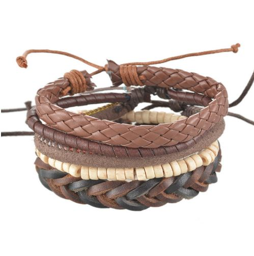 Leather and Braided Bracelet Sets - Chilled - $17