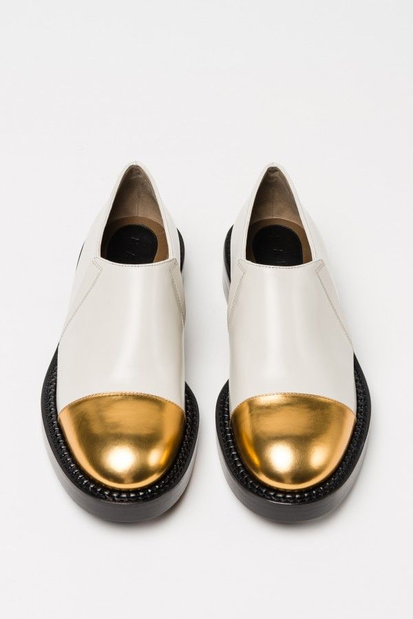 #white #gold #shoes #winter14 #marni #newcollection