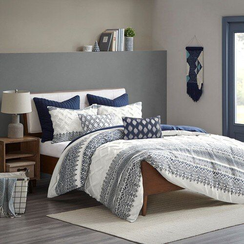 Malibu Boho Navy and White Comforter Set - Queen in 2020 ...
