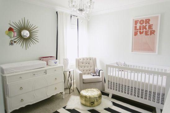 Quarto de bebê moderno, simples e lindo