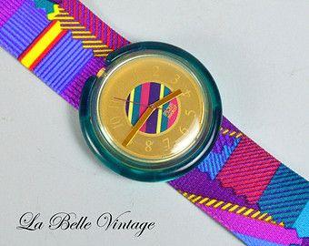 Pitsch Patsch ~ Vintage Pop Swatch Watch ~ Unused ~ 1993 PWK174
