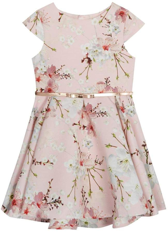 94960837e8bc Baker by Ted Baker Girls Floral Belted Prom Dress {affiliate link}  #girlsdress #floraldress