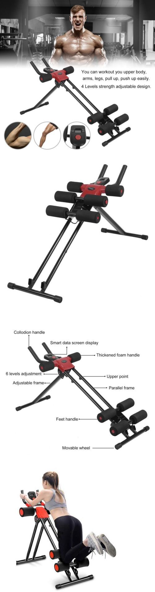 Abdominal Exercisers 15274: Ab Cruncher Abdominal Trainer Glider Fitness Machine Muscle Exercise Equipment T -> BUY IT NOW ONLY: $49.28 on eBay!