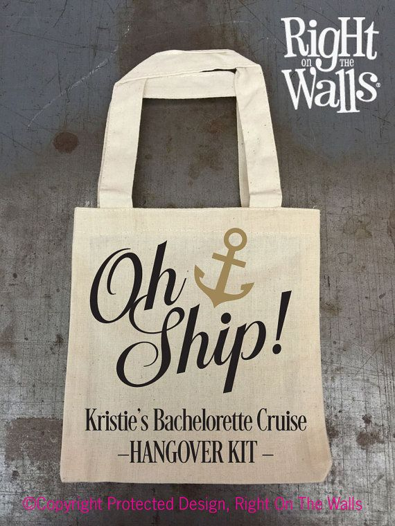 Mini Tote Bag Oh Ship Cruise Vacation EMPTY by RightOnTheWalls