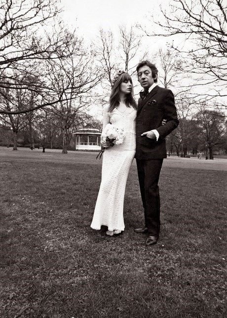 Jane Birkin and Serge Gainsbourg's wedding