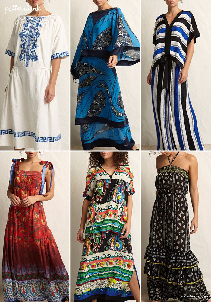 Patternbank loved Warm's SS18 RTW NY collection, a mixture of prints and patterns from far flung travels to India, Japan, Africa, the Aegean and Provenance