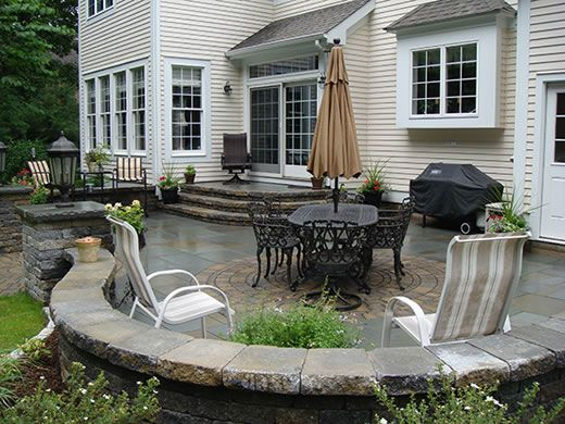 patio, love the steps down