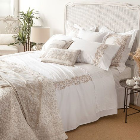 white embroidered percale bed linen zara home zara and australia. Black Bedroom Furniture Sets. Home Design Ideas
