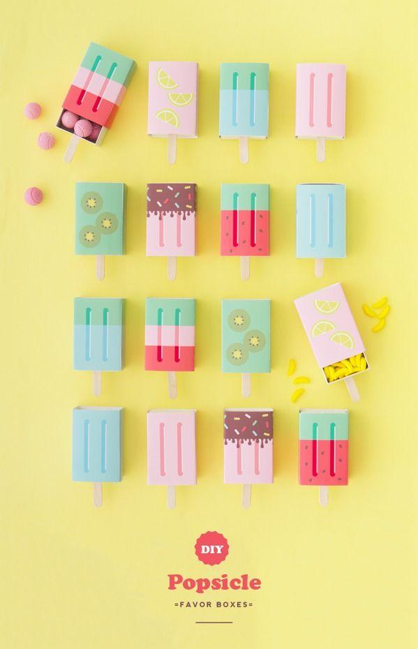 DIY Popsicle Favor Boxes.