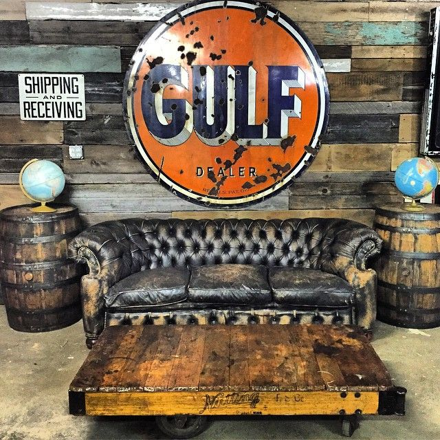 this-old-stomping-ground:  Goodnight shop… Our studio will be open tomorrow from 12-4pm with a stocked cooler and tons of new vintage finds from our latest picking trips. Like this killer Nutting factory cart coffee table.