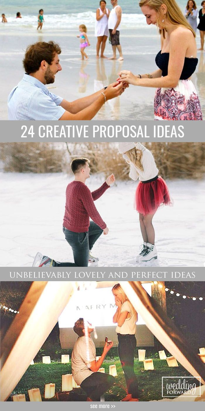 24 Creative Proposal Ideas :heart: Find some unbelievably sweet, lovely and perfect creative proposal ideas. Be inspired to great action! See more: http://www.weddingforward.com/creative-proposal-ideas/ #proposal #ideas #wedding