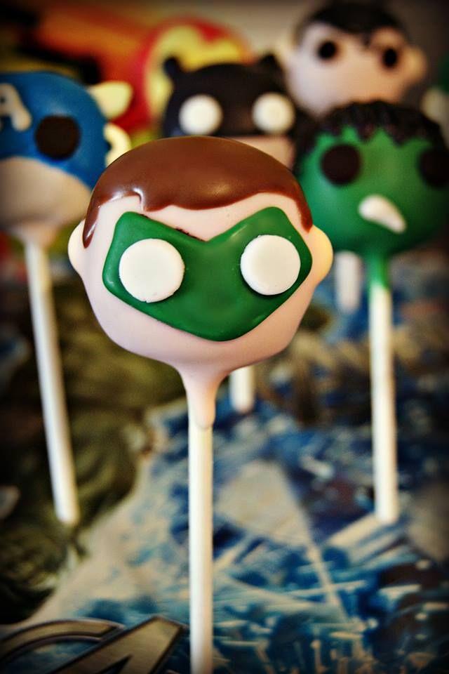 Green Lantern cake pop #superhero