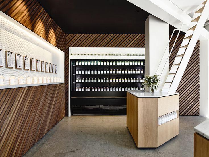 Travis Walton Architects Designs Manhattan Inspired Organic Elixir Bar In Melbourne