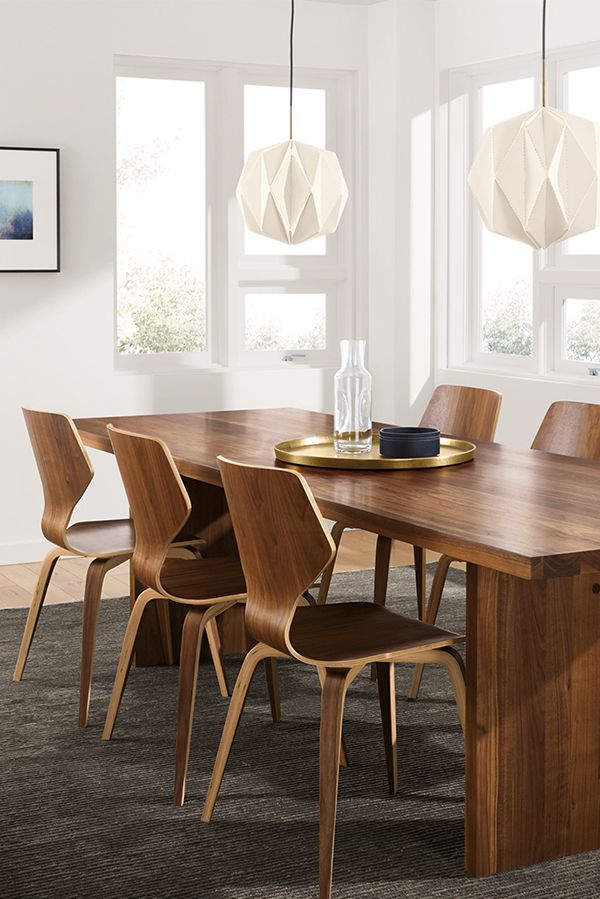 Pike Chairs With Wood Seat Modern Dining Chairs Modern Dining