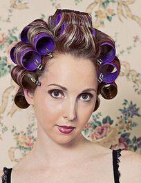 Fetish hair Women in rollers