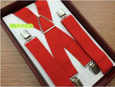 2016 New Arrival Men's Business Casual Trousers Suspensorio Infantil Boxed Strap 4 Clip Suspenders High-end Tirantes For Male