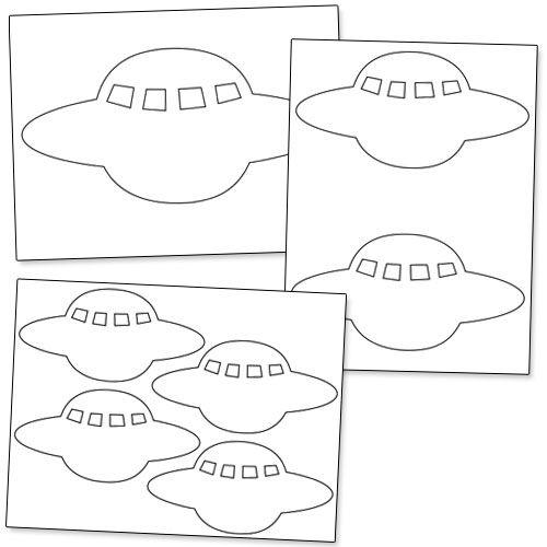 Spaceship Pattern Printable from PrintableTreats.com