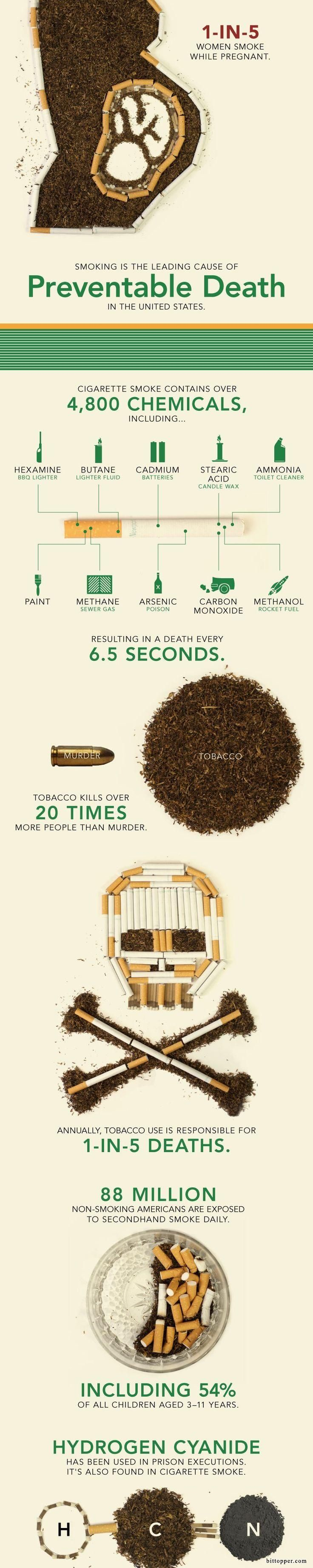Smoking Infographic via bittopper.com