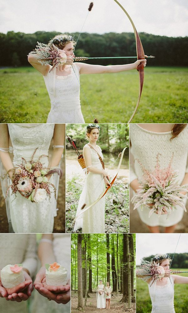 The Hunger Games Inspired Rustic Weddings | http://www.tulleandchantilly.com/blog/the-hunger-games-inspired-rustic-weddings/