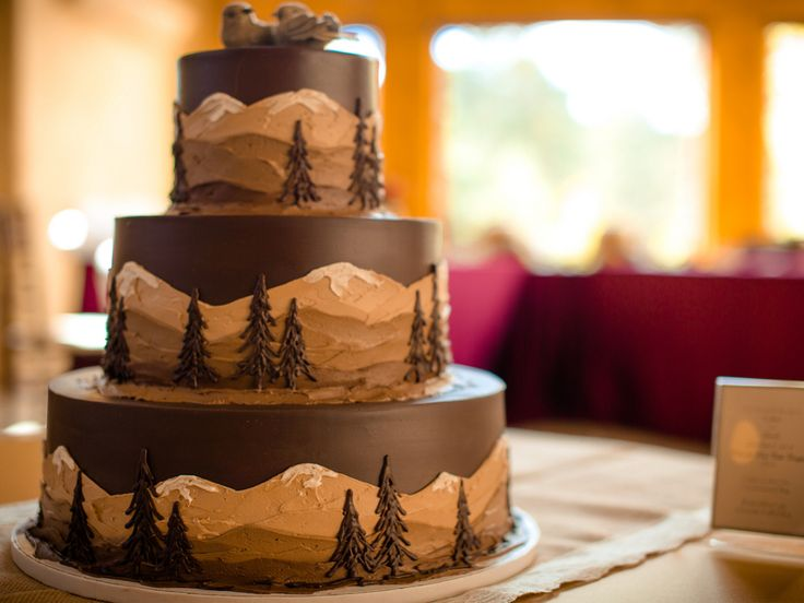 This gorgeous cake is a rustic bride's dream come true.