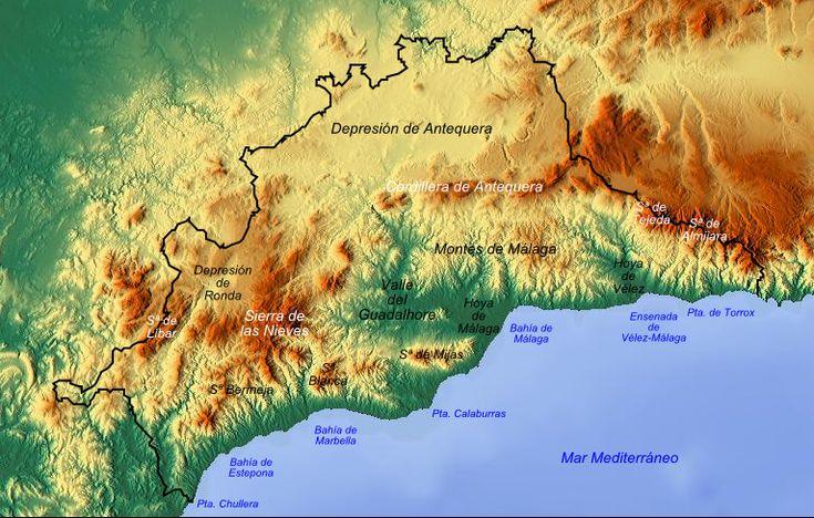 Mapa De Antequera Malaga.Mapa Fisico De La Provincia De Malaga Tamano Completo Gifex Mapa Fisico Malaga Provincia