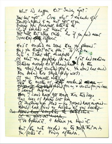6 October 2010 Exclusive: Ted Hughes's poem on the night Sylvia Plath died