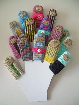 finger puppets, #knit, #crochet, #handmade