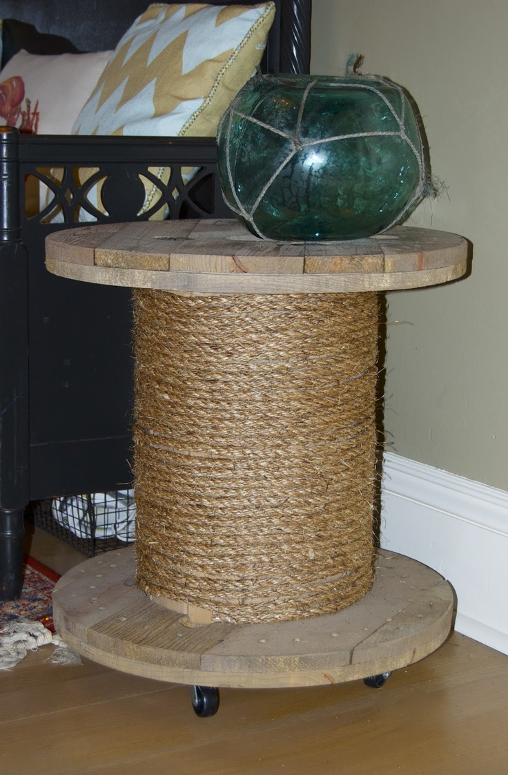 Seaside Shelter: Electrical Spool Side Tables - step by step