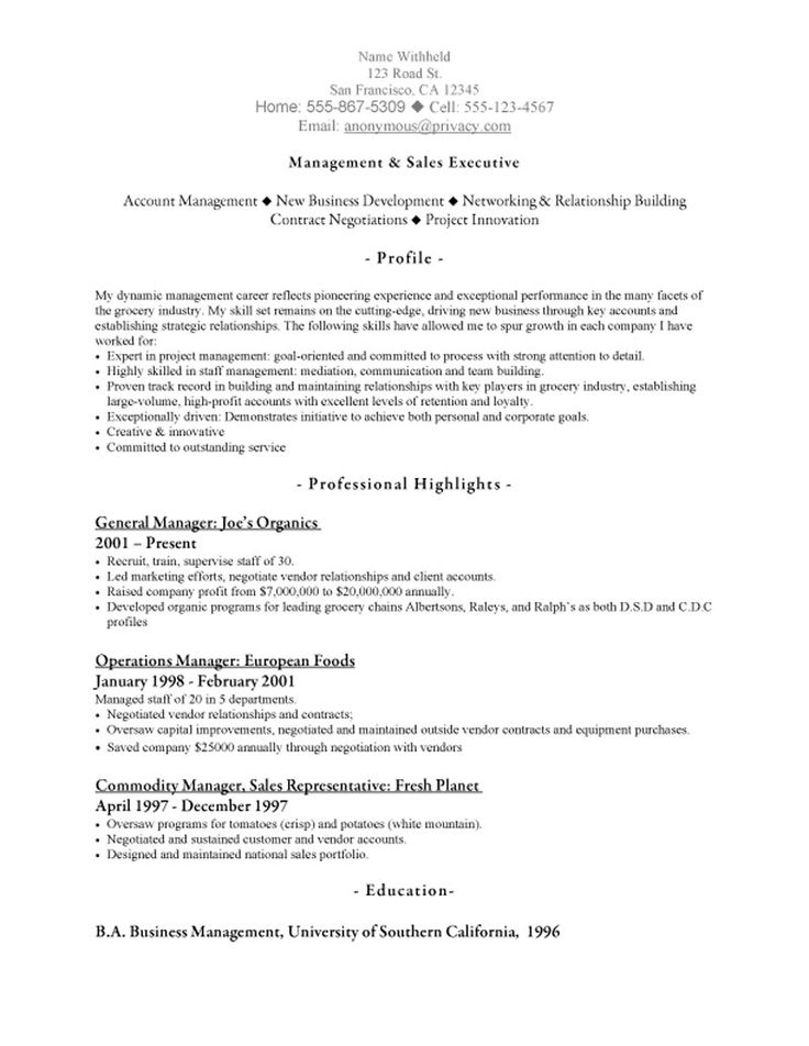 Πάνω από 25 κορυφαίες ιδέες για Resume objective sample - sample resume sales executive