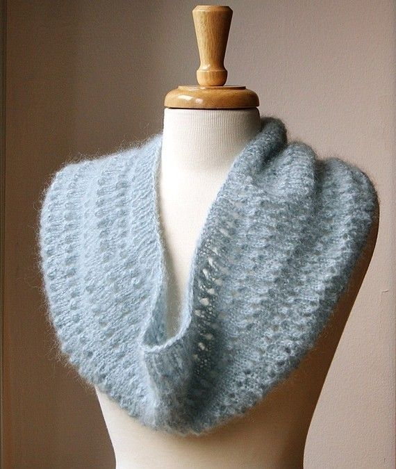 Infinity Scarf Knitting Pattern Mohair : Infinity Scarf Knitting Pattern- Genevieve Cowl / Snood ...
