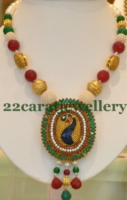 Jewellery Designs: Imitation Beads Fashion Set